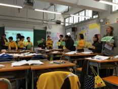 同學進行疊詞配對的活動